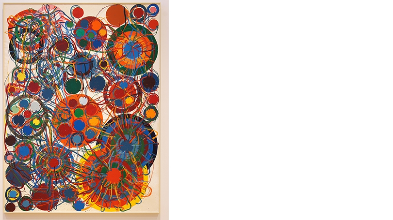 Atsuko Tanaka, Work, 1966, enamel on canvas