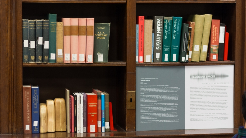 Transfer (Object) display in Sherman Art Library.