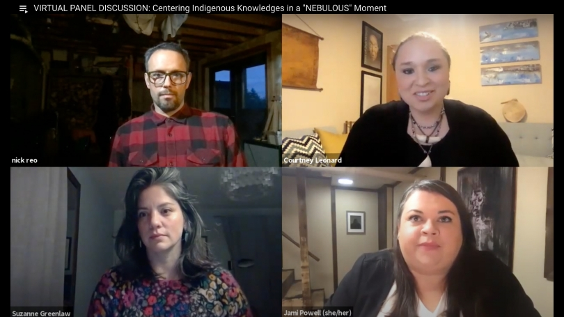 On October 21, 2020, Associate Curator of Native American Art Jami Powell moderated a virtual discussion between Artist Courtney M. Leonard, Dartmouth Professor Nicholas J. Reo, and University of Maine PhD Candidate Suzanne Greenlaw.