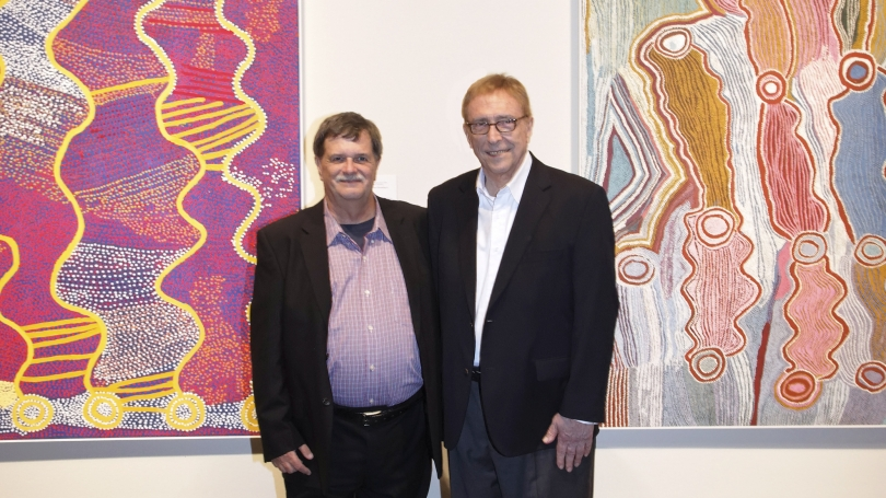 Will Owen and Harvey Wagner at the opening of Crossing Cultures