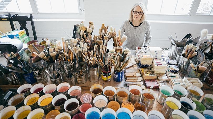 Professor Colleen Randall in her Lebanon, N.H., studio.