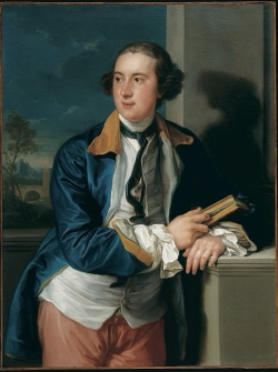A painted portrait of William Legge, Second Earl of Dartmouth.
