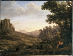 Claude Lorrain, Landscape with Shepherd and Shepherdess, about 1636
