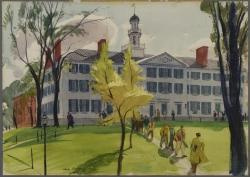 Dartmouth Hall by Hardie Gramatky