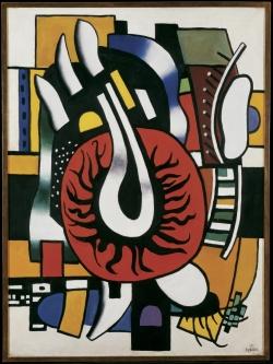Fernand Léger, Composition en Rouge et Noir (Composition in Red and Black), 1945, oil on canvas