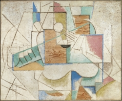 Pablo Picasso's Guitar on a Table (1912)