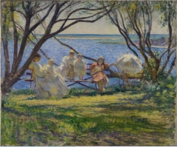 Edmund C. Tarbell, My Family at Cotuit, about 1900