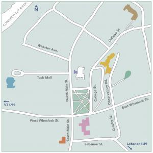 Resonant Spaces exhibition map.